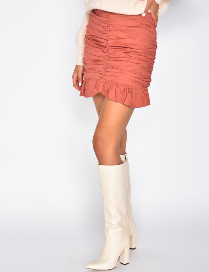 Draped Skirt with Ruffles