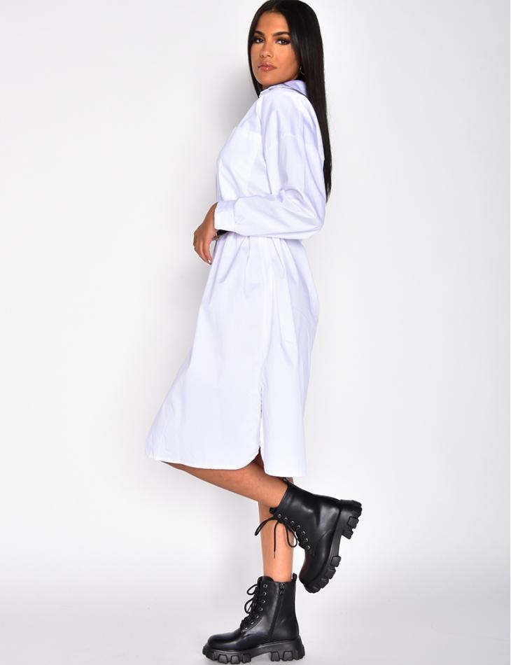 Robe chemise longue oversize