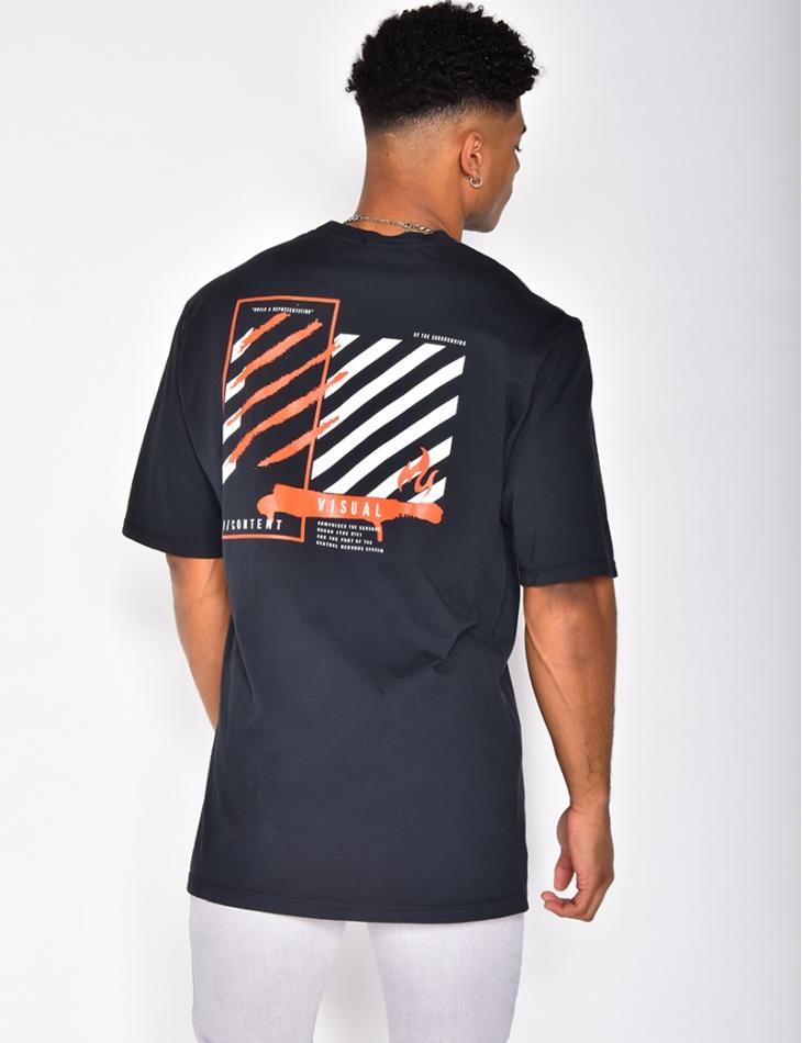 T-shirt à graffitis