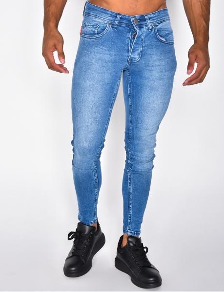 Blaue Basic-Jeans