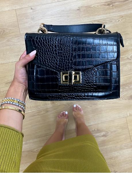 Faux Crocodile Skin Bag