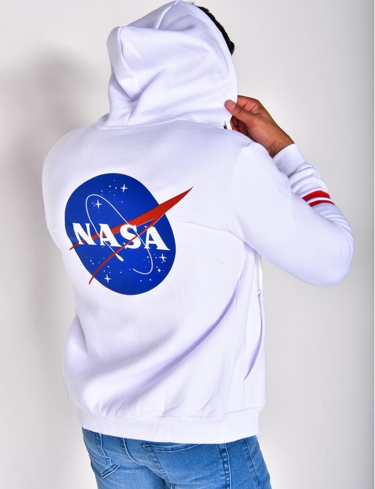 "Gilet ""NASA"" à zip et capuche"