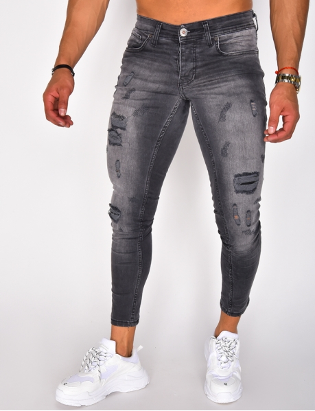 Jeans Skinny Fit in Destroyed-Optik
