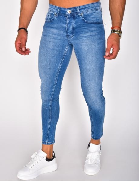 Jeans bleu délavé