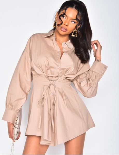 Hemdkleid zum Binden