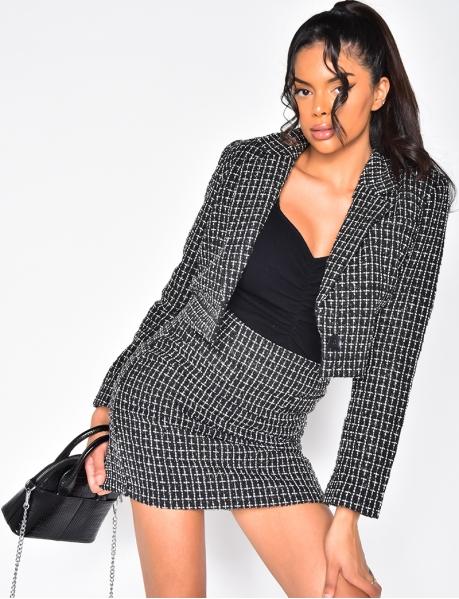 Kurzer Blazer aus Tweed