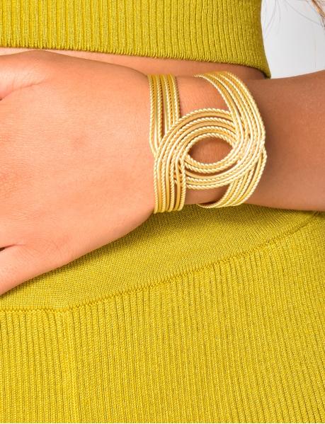 Bracelet croisé or