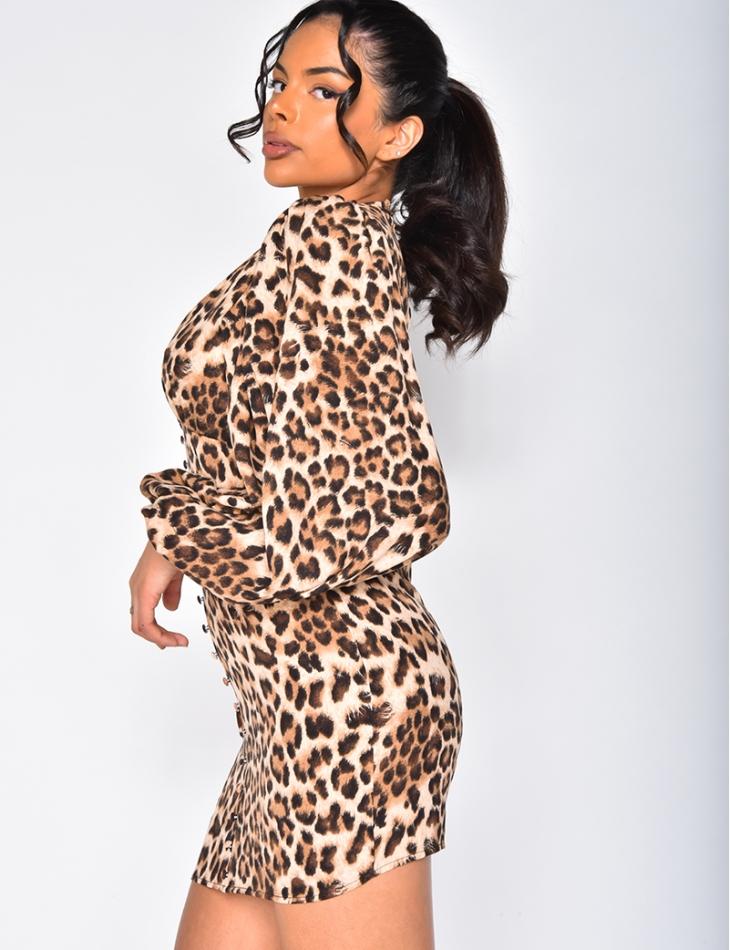 Robe à motifs léopard