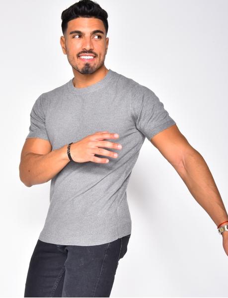 Textured T-shirt