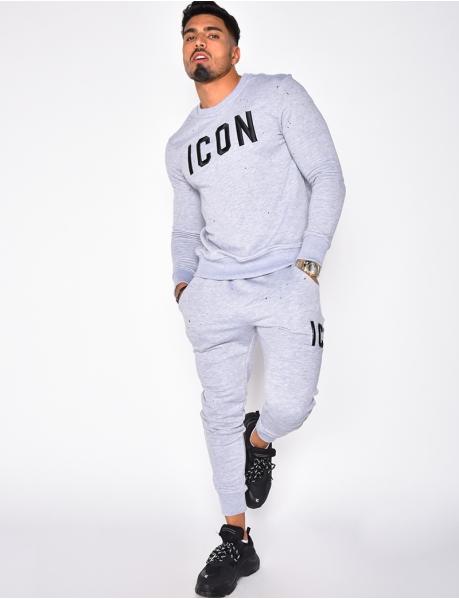 Kombination Sweatshirt und Jogginghose