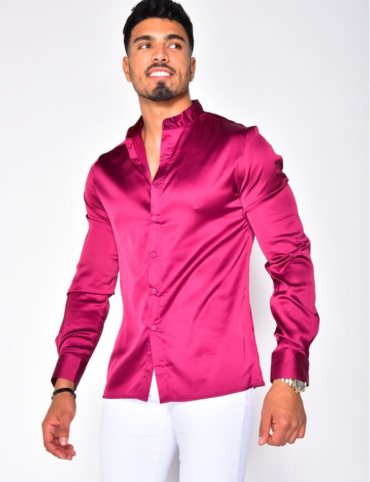 Long Sleeved Satin Shirt