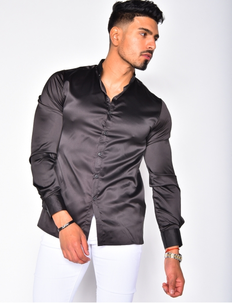 Long Sleeved Satin Shirt