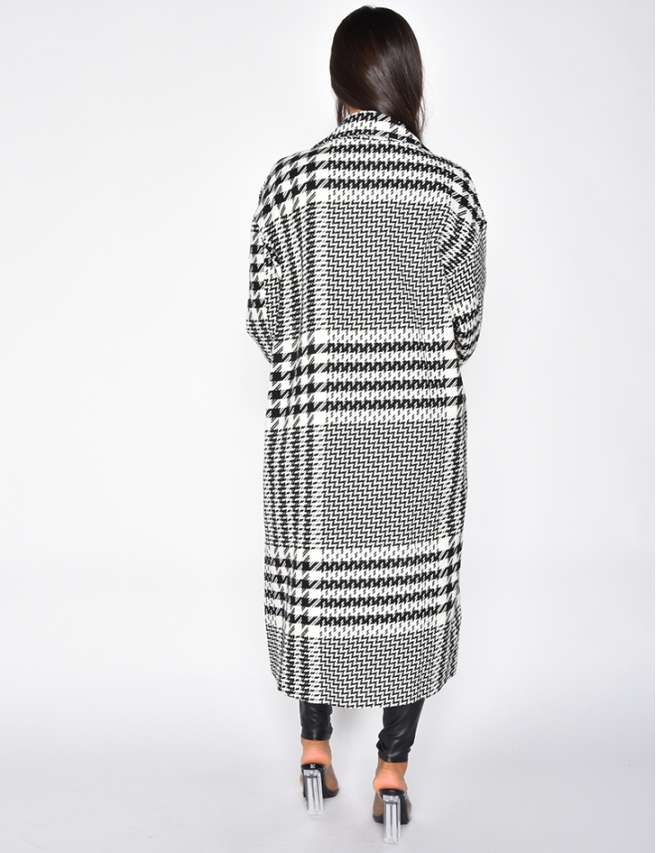 Manteau long à motifs