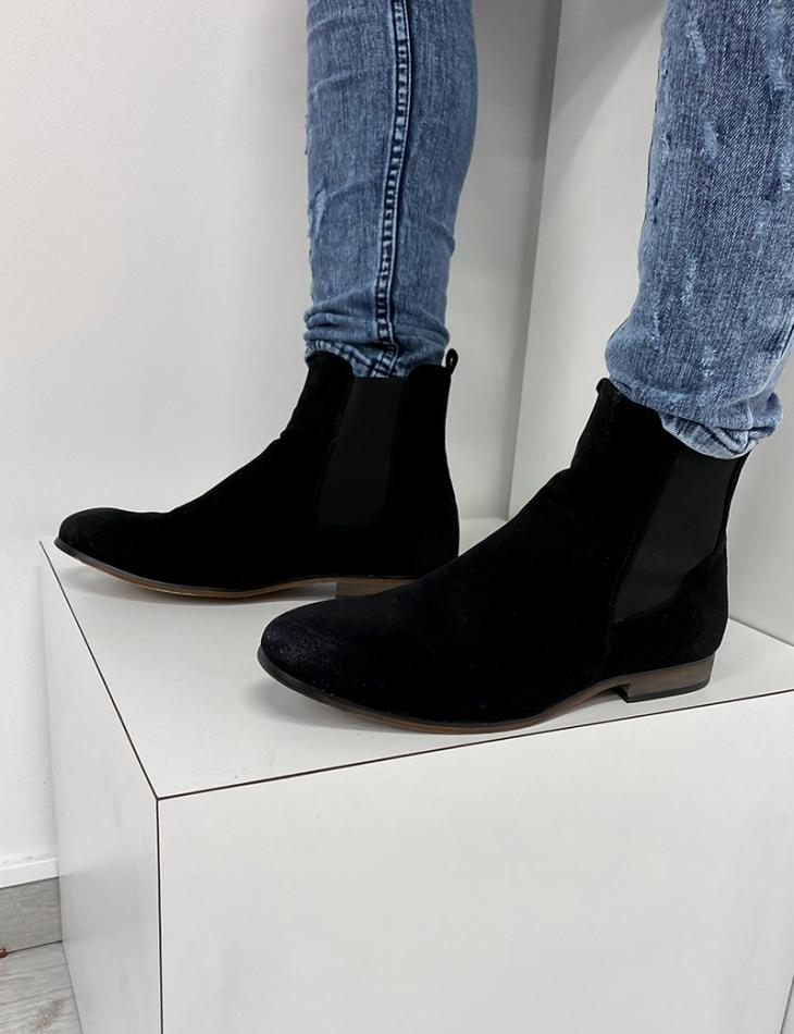 Chelsea boots en daim à élastique