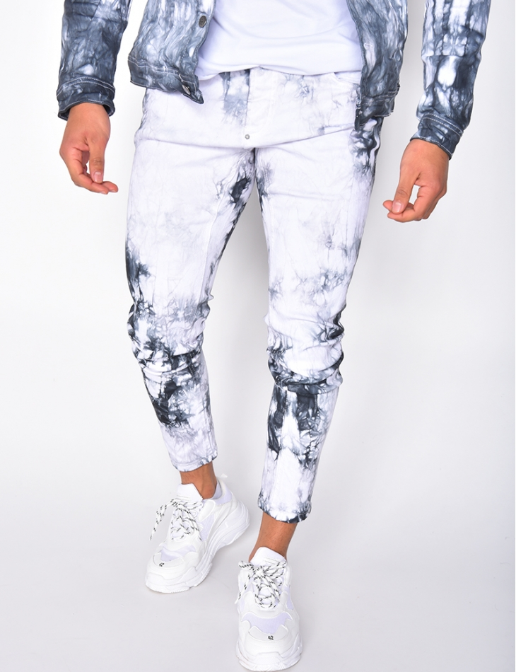 Jeans tie and dye