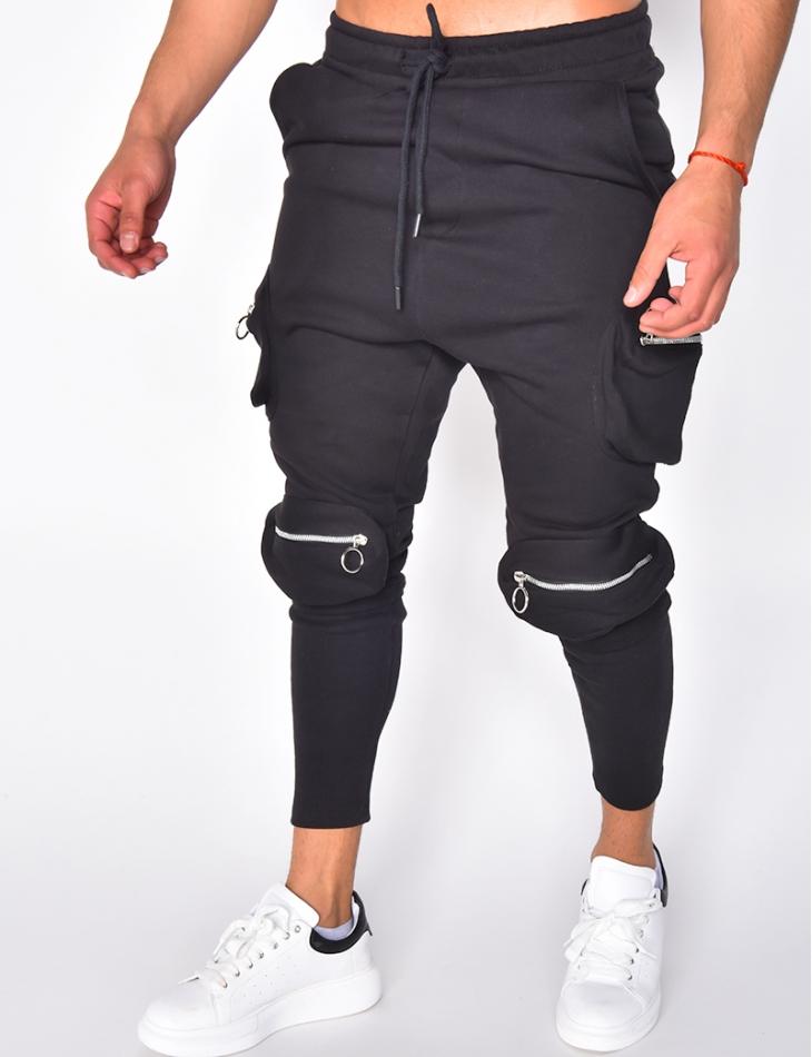 Jogging à poches et zips