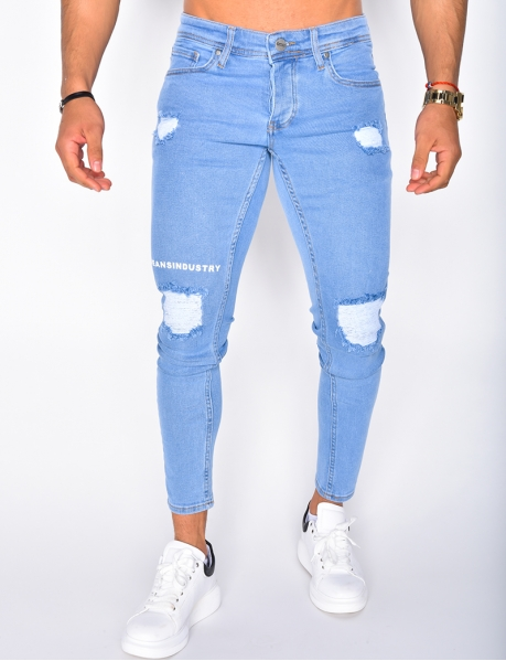 - Jeans Skinny Fit, Destroy-Jeans Industry