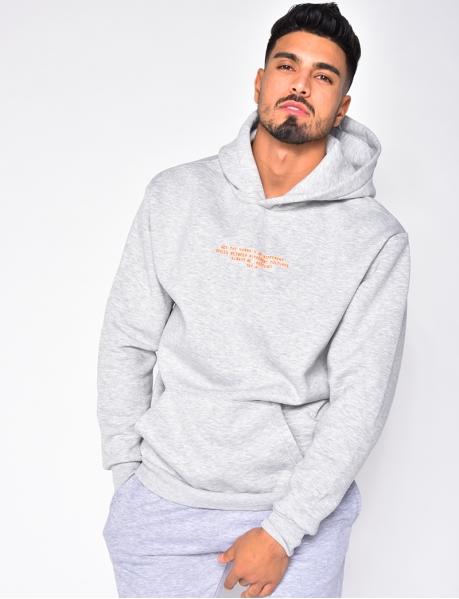 Hooded Sweatshirt with Writing