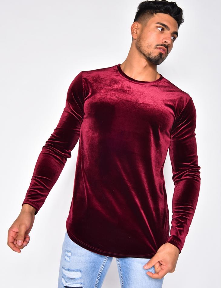 T-shirt manches longues en velours
