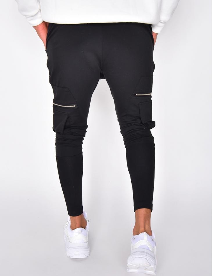 Pantalon de jogging à poches et zips