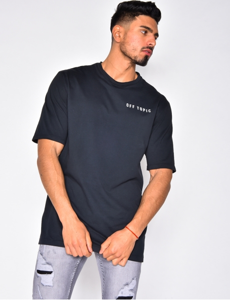 "T-shirt with ""Off Tropic"" Graffiti"