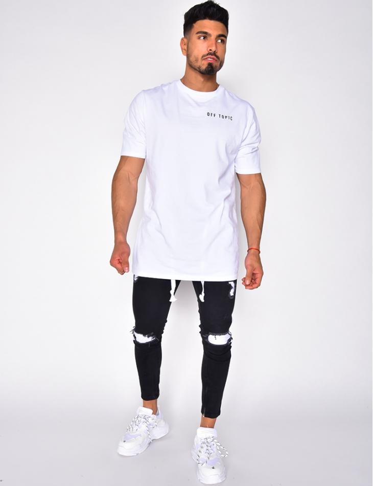 Jeans à bandes
