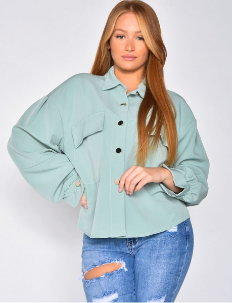 Chemise cintrée à poches
