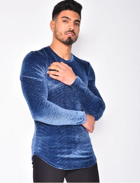 Samt-Pullover