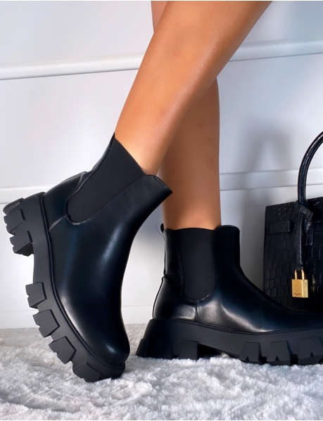 Chelsea-Stiefel mit Chunky-Sohle