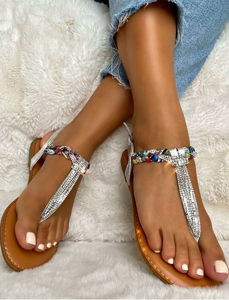 Sandales à strass