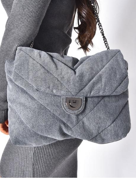 Handtasche aus Stoff, Jeans-Material