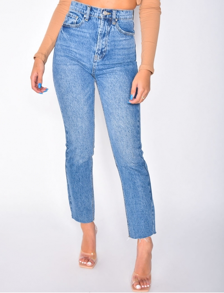 Jeans taille haute slouchy