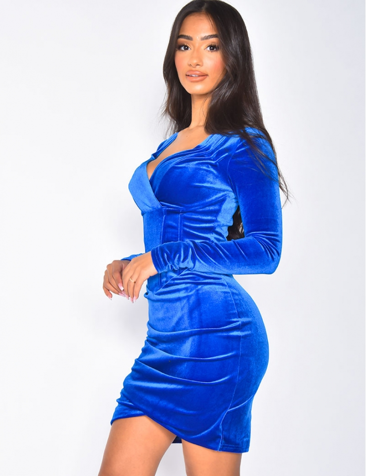 Robe en velours avec corset