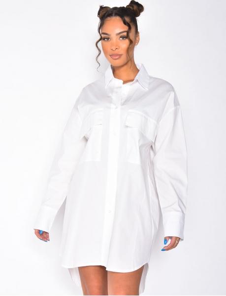 Robe chemise avec poche