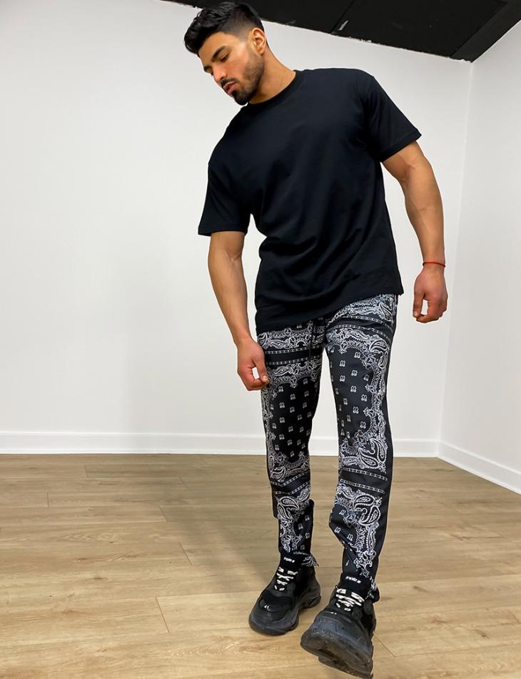 Pantalon à motif bandana