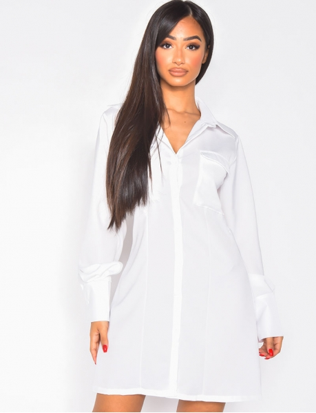 Robe chemise dos nu