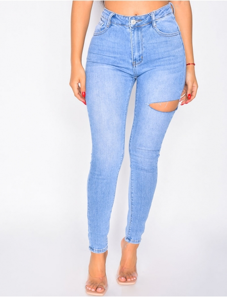 Jeans in Destroyed-Optik