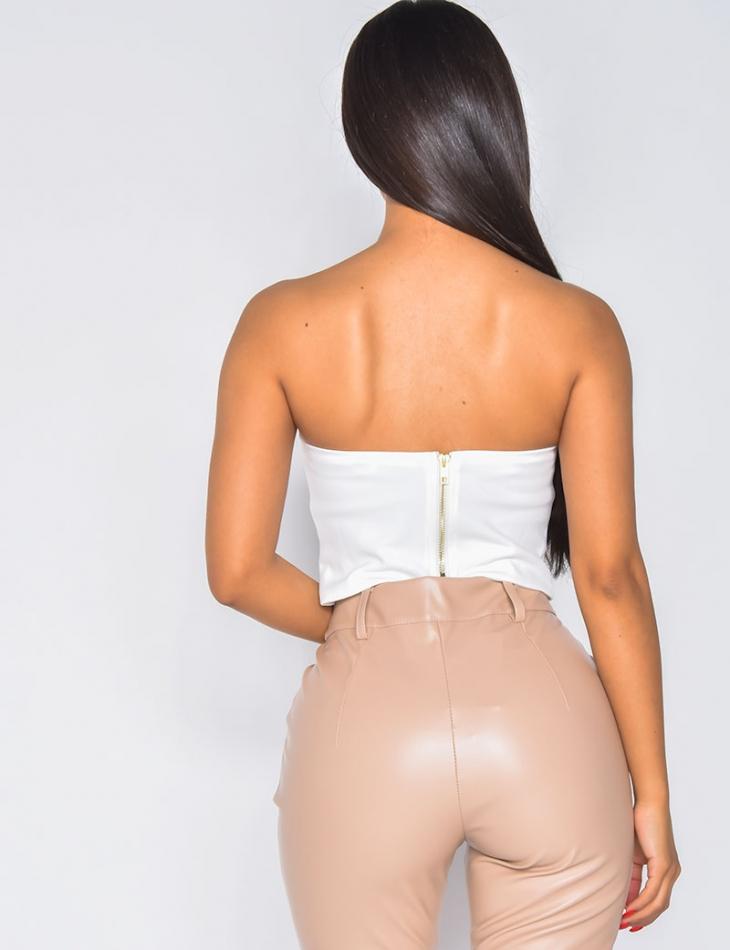 Crop-top effet corset