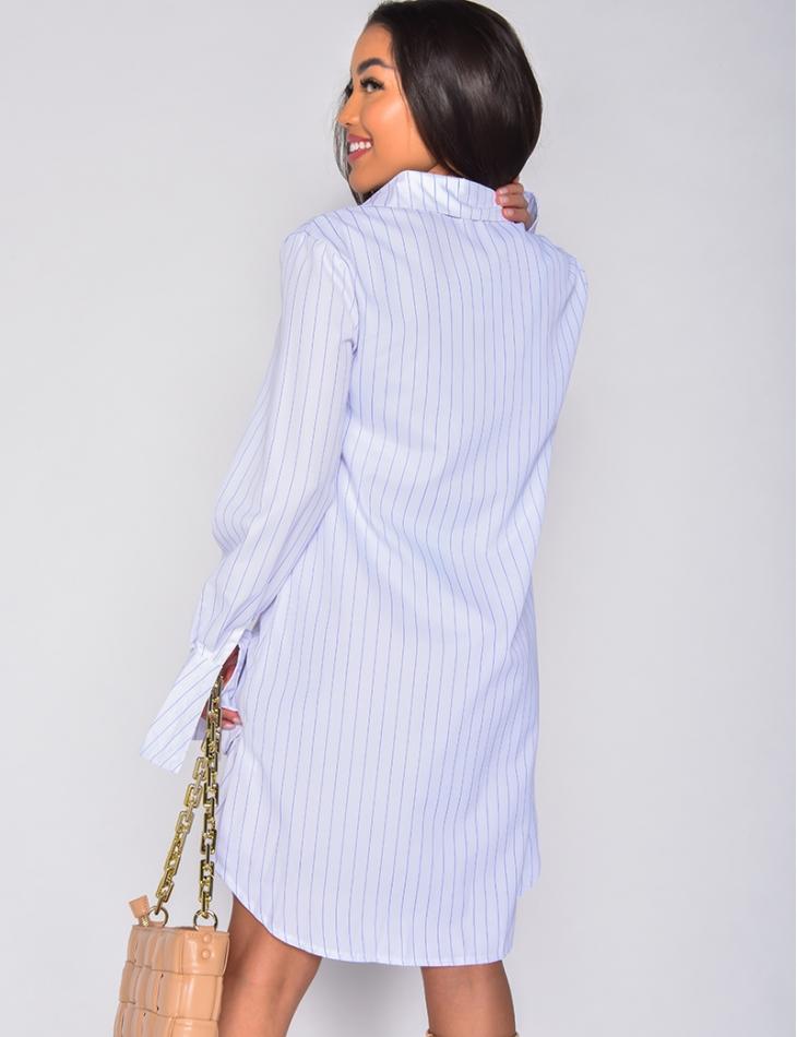 Robe chemise à rayure