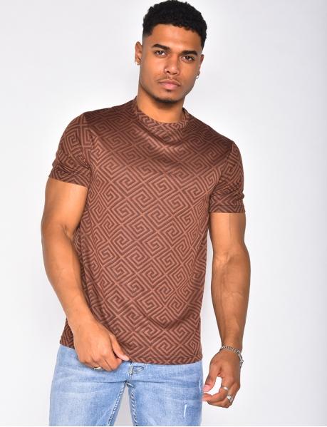 T-shirt à motifs géométrique