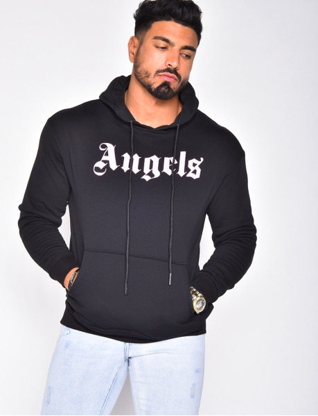 """ANGELS"" hoodie with pocket"