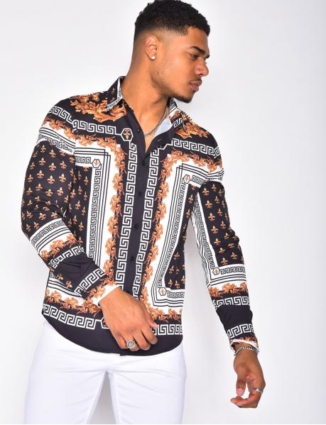 Chemise à motifs baroques
