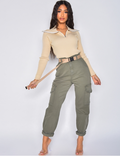 Cargo Jeans with Belt