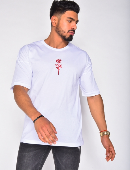 T-shirt motif rose