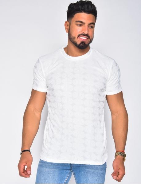T-shirt à motifs en relief