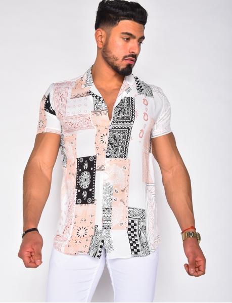Chemise à motifs bandana