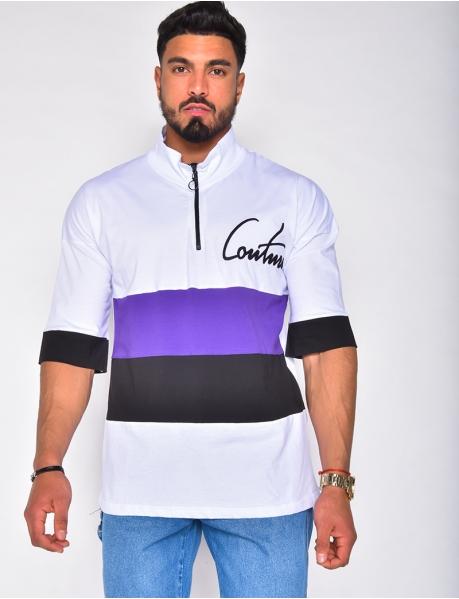 "T-shirt à zip ""COUTURE"""