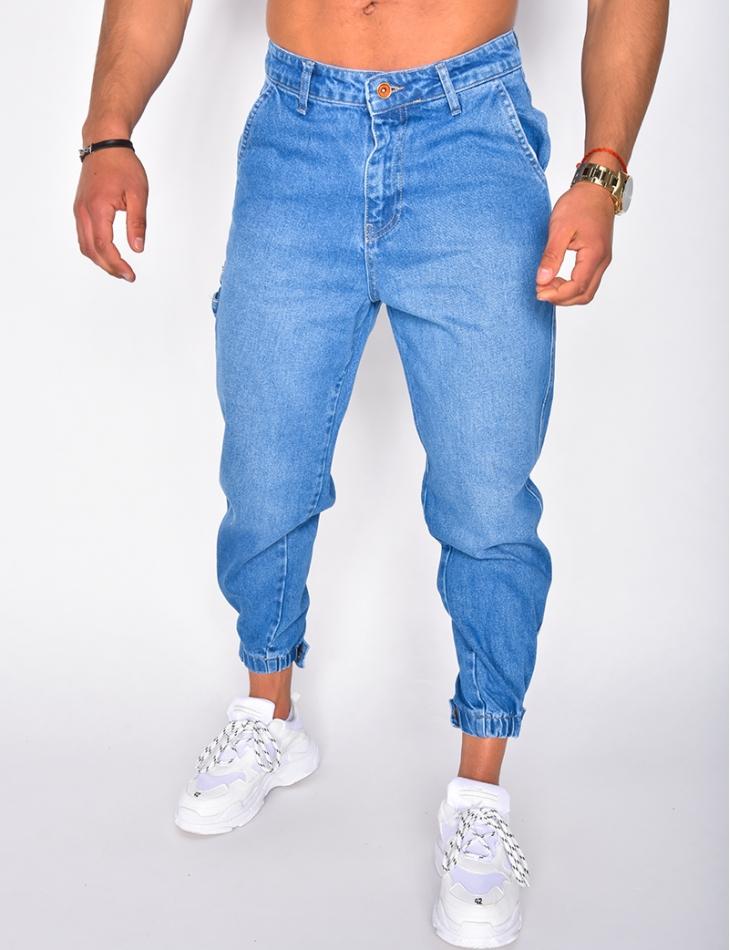 Jeans effet cargo