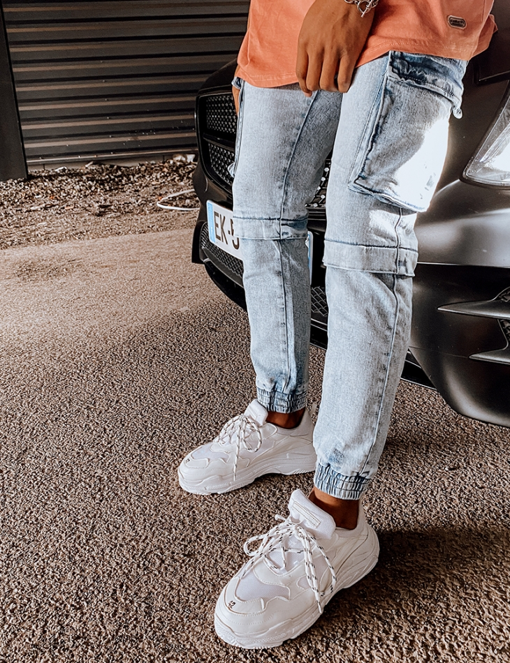 Pantalon effet cargo