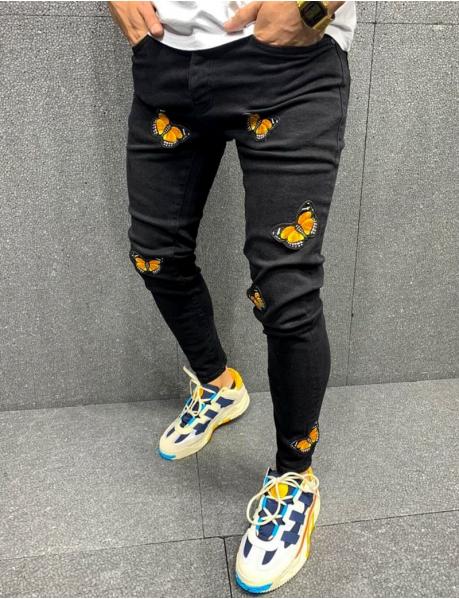 Jeans à patchs